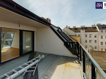 High Five in Margareten! Ab ins Dachgeschoss! Wohnen mit WOW-Effekt! Bestausstattung + Hofseitige Terrasse + Ideale Raumaufteilung!