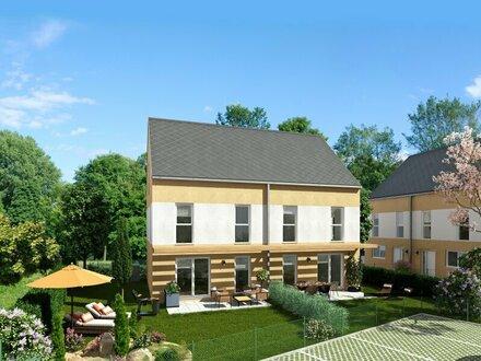 Wunderschönes Doppelhaus nur 500m zur Schnellbahn, in herrlicher Ruhelage mit ebenem, südseitigem Garten