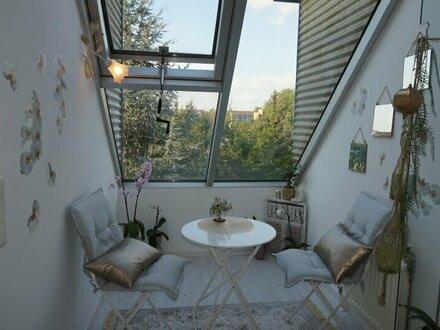 Sonnige, voll möblierte 2-Zimmer Maisonette mit südseitiger Terrasse