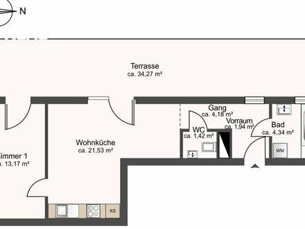 Dachterrasse satt! Provisionsfreie DG-Wohnung bei der Therme Wien (inkl. Klimaanlage)