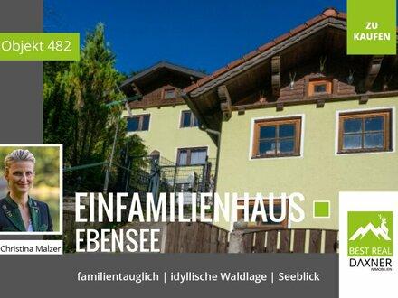 Einfamilienhaus in idyllischer Waldrandlage mit Panoramablick zum Traunsee!