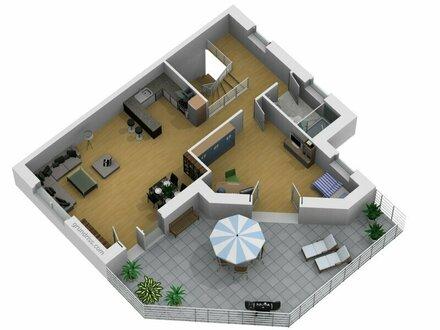 NEUBAUPROJEKT: Sonnendurchflutete 3-Zimmer-Terrassenwohnung