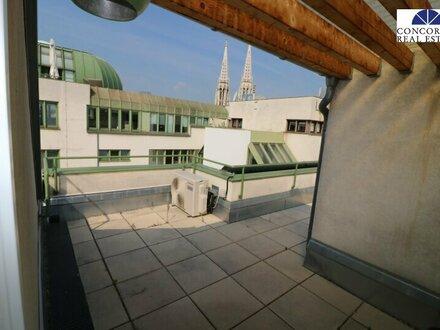 Terrasse Blick auf Votivkirche