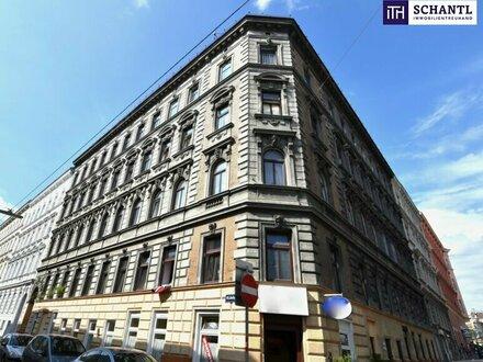 Hoch attraktiver Rohdachboden mit Baubewilligung (in Erwartung) im Paket mit - 50 m² Wohnung im 3.OG - 90 m² Souterrainfläche…