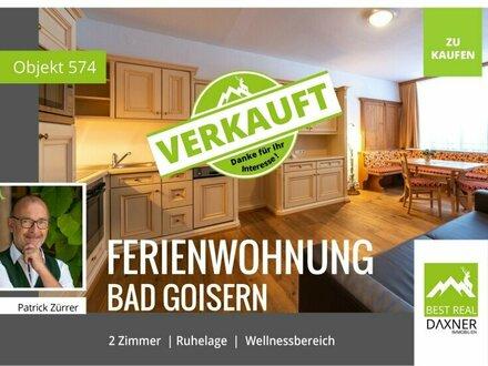 Verkauft! 2 Zi. Ferienwohnung in Bad Goisern mit Wellnessbereich