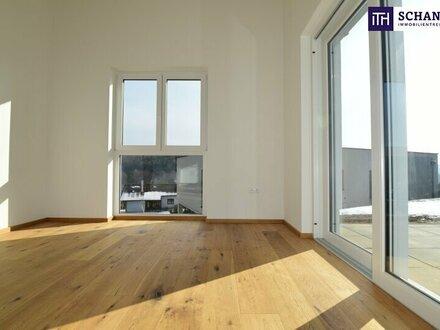 WOW!! AB SOFORT: Entzückende, feine Gartenwohnung im ERSTBEZUG! + Stellplatz + 2 Terrassen!