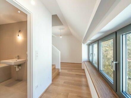 ++den AUGARTEN ums Eck++ Hochwertige 4-Zimmer DG-Maisonette! Terrasse mit unglaublichem WEITBLICK! Tabor-Sky!