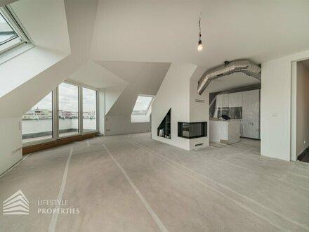 Exklusive 4-Zimmer DG-Maisonette im Edelrohbau, Nähe Burggasse