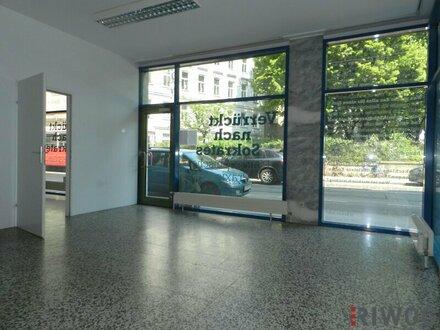Barrierefreie Geschäftsfläche/Büro mit Auslage