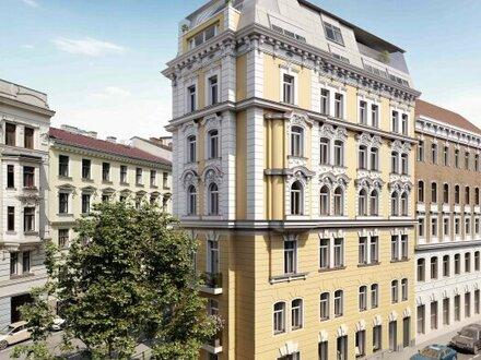 ERSTBEZUG im FLATIRON VIENNA! Hochwertig sanierter 2-Zimmer-Stil-Altbau im 5. Liftstock