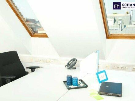 Büro in 1110 Wien: Modernes, serviciertes Büro mit 78 m² + 65 m² Terrasse + Küche!