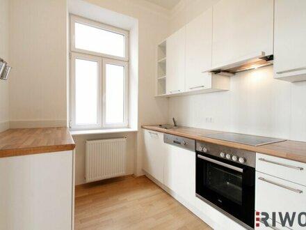 Einbauküche mit Fenster