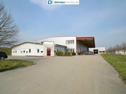 7221 Marz, Gewerbebetrieb mit zwei Produktionshallen und Bürogebäude