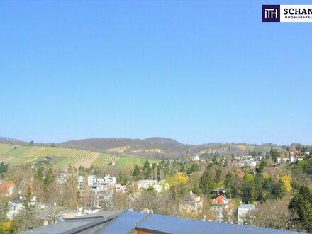 AUSSICHT DELUXE! Riesige Dachterrasse mit Rundumblick Richtung Stadt und Weinberge + riesige Wohnküche + perfekte Raumaufteilung…