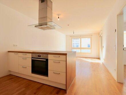 Neubau mit Loggia nächst Naschmarkt! Gepflegte Zwei-Zimmer-Wohnung mit Garagen-Option im 3. Liftstock