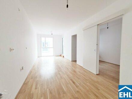 ERSTBEZUG - hofseitige 2-Zimmerwohnung mit großer Loggia