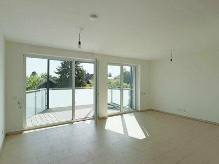 Blick ins Grüne mit Balkon nähe Badeteich in Neubau mit 8 Wohneinheiten