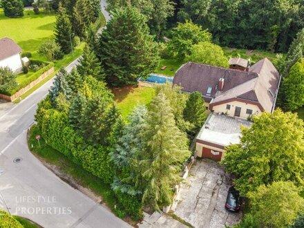 Grünruhelage neben Wien! 7-Zimmer-Einfamilienhaus mit Pool im Wienerwald