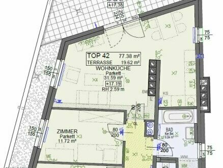 Wohnungsplan B42