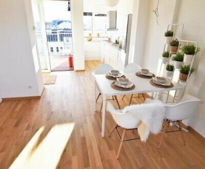 Stylisch Wohnen am Puls der Stadt mit Blick über Wien! Wunderschönes und voll saniertes Altbauhaus mit moderner Architektur!…