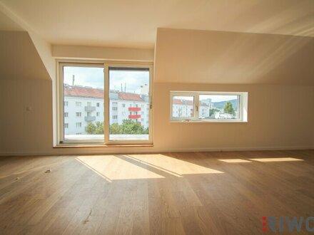 **DG mit Blick auf den KAHLENBERG** Traumhafter 3-Zimmer-Erstbezug mit Top-Grundriss und ca. 23 m² Terrasse