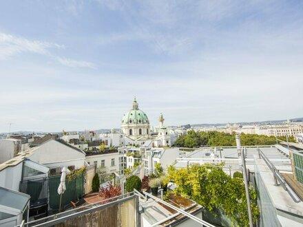 Schön sanierte DG-Wohnung mit Terrasse direkt am Schwarzenbergplatz - unbefristet zu vermieten!