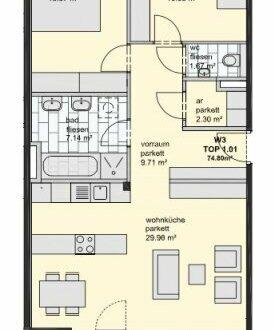 3 Zimmer Gartenwohnung in Maxglan (Erstbezug)