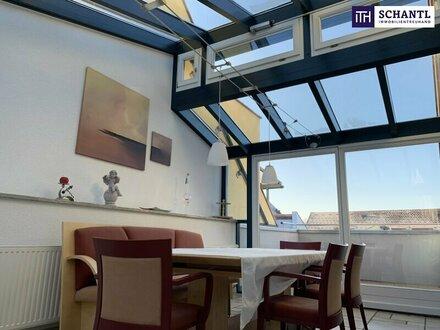 HERRLICHE 4-Zimmer Dachgeschoss-/Etagenwohnung! LICHTDURCHFLUTET! WINTERGARTEN + SONNENTERRASSE + TIEFGARAGE + PERFEKTE INFRASTRUKTUR!