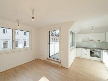 Six in the City: Hochwertiges DG-Apartment, BESTLAGE, 2-Zimmer ERSTBEZUG mit Terrasse! ***RUHELAGE***