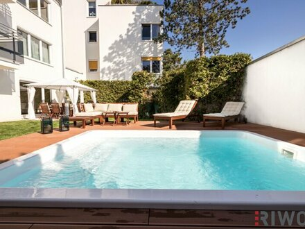 Pool-Gartenwohnung in Salmannsdorfer Bestlage|Garage|Vollmöbliert
