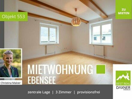 ***Provisionsfrei*** Helle und freundliche Mietwohnung (82m²) in Ebensee zu mieten!