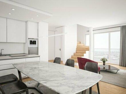 PROVISIONSFREI! Exklusiv! Maisonettenwohnung mit 4 Terrassen! Küche und Klimaanlage inklusive!