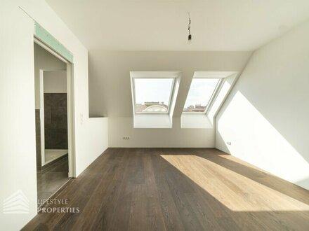 Exquisite 4-Zimmer DG-Maisonette im Edelrohbau, Nähe Burggasse