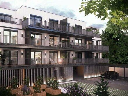 Zwei-Zimmer-Eigentumswohnung im Zentrum von Vösendorf, Balkon mit schönem Blick
