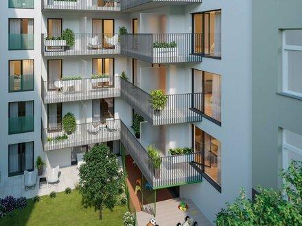 EUM - TREND HOMES! Perfekt geschnittener 2-Zimmer-Neubau mit Westbalkon