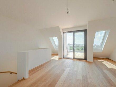 ++NEU** Fantastische 4-Zimmer DG-Maisonette mit 11m² Terrassen! **ERSTBEZUG**