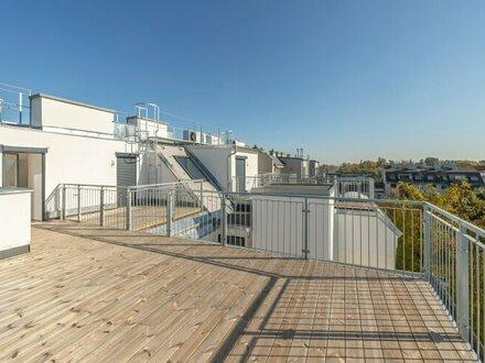 ++DONAUBLICK** 3-Zimmer DG-Maisonette mit BLICK aufs WASSER und riesiger, hofseitiger Dachterrasse! ++ERSTBEZUG++