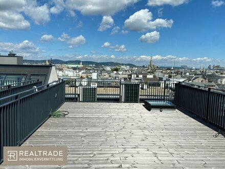 (Erstbezug) NEW PRESTIGE - Traumhafte Dachterrassenwohnung mit unverbautem Grünblick in top Botschaftslage