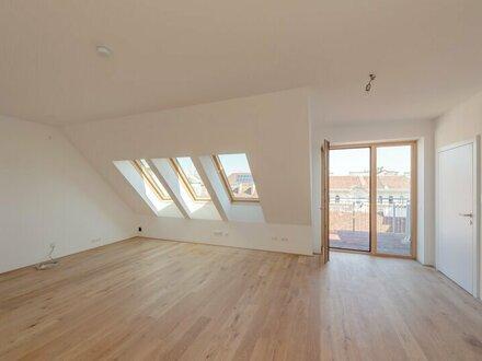 ++NEU** 3-Zimmer DG-Erstbezug mit Balkon und Terrasse (63m²), Hofruhelage, optimaler Grundriss!