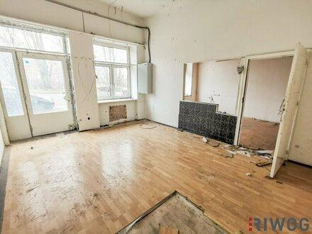 Sanierungsbedürftiges EG-Büro mit circa 72m²