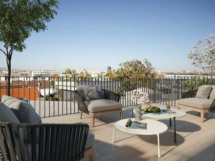 Südseitige Terrassenwohnung mit Weitblick! Dachgeschoß-Erstbezug nächst Schönbrunn