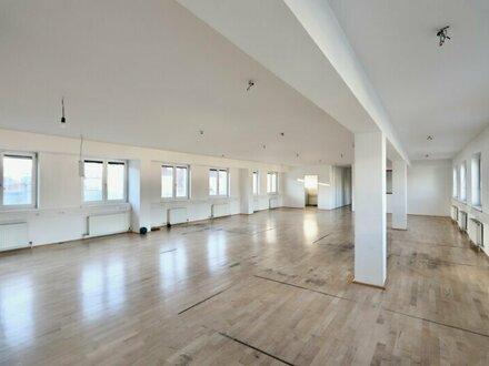 Helles Büro mit 3 Terrassen im obersten Stockwerk!