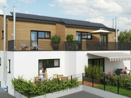 Nähe Wallersee - stylische 3-Zimmer-Dachterrassen-Wohnung & Privatgarten - Zweitwohnsitz möglich