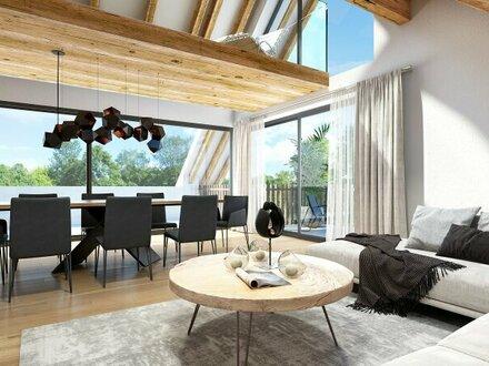 Außergewöhnliche Architektur bietet extravagantes Wohnerlebnis mit Dachterrasse