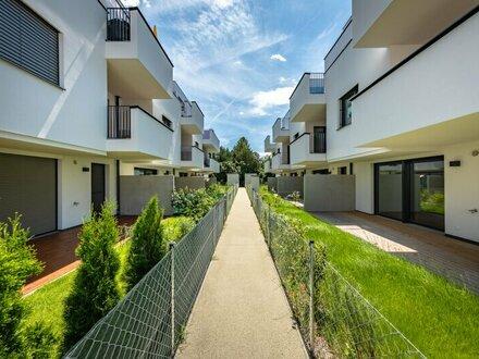Reihenhausartige Eigentumswohnung mit Garten in Traumlage von Stammersdorf - Bezugsfertig! Provisionsfrei!