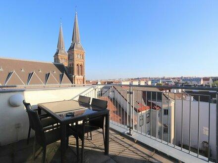 EUM - PENTHOUSE-DACHTERRASSEN-TRAUM nächst Familienplatz mit Luxus-Designer-Ausstattung!
