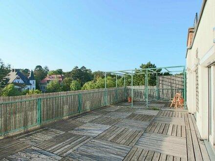 Sonnige Dachgeschoss Atelier Wohnung mit riesiger Terrasse!