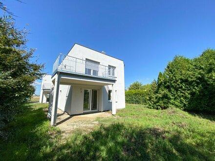 Gesucht wird ein Grundstück oder Einfamilienhaus mit Garten im 21. oder 22. Bezirk oder Umgebung.