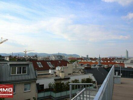 ** Beeindruckende4-Zimmer DACHGESCHOSSWOHNUNG mit riesiger Dachterrasse zwischen Augarten und Prater !