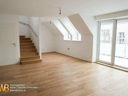 Erstbezug!Hochwertige 4-Zimmer DG-Maisonette, mit 105 m² !